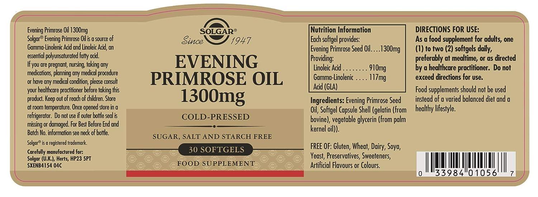 Solgar Aceite Primula Rosa 1300 Mg - 30 Cápsulas: Amazon.es: Salud y cuidado personal