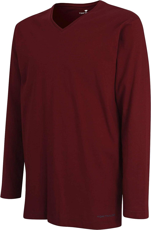 Tom Tailor - Camiseta para Hombre, Color Rojo: Amazon.es: Ropa y accesorios