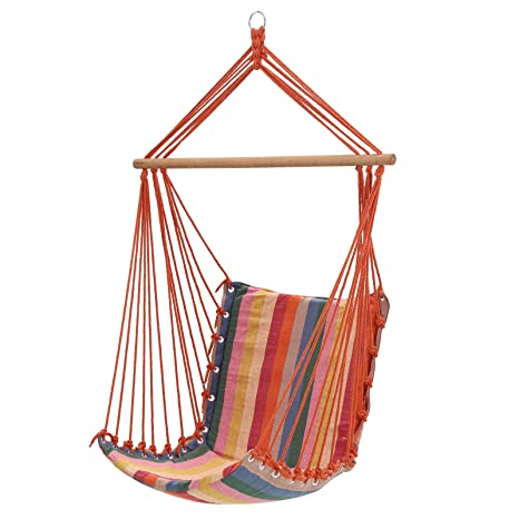 SONGMICS Silla Hamaca, Silla Giratoria, Capacidad de Carga 200 kg, Interior y Exterior