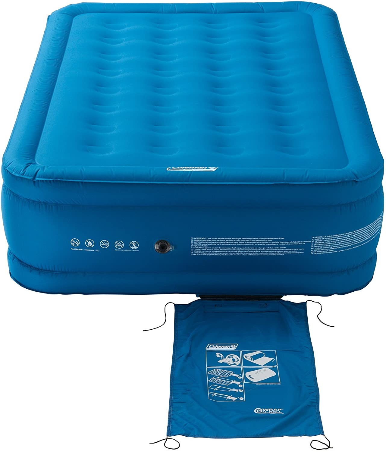 Flocked Single//Double Air Bed Camping bed Coleman Airbed Extra Durable Single//Double//Raised Double Heavy Duty Airbed Inflatable Air Mattress Comfort Blow Up Bed for Indoor and Outdoor Use