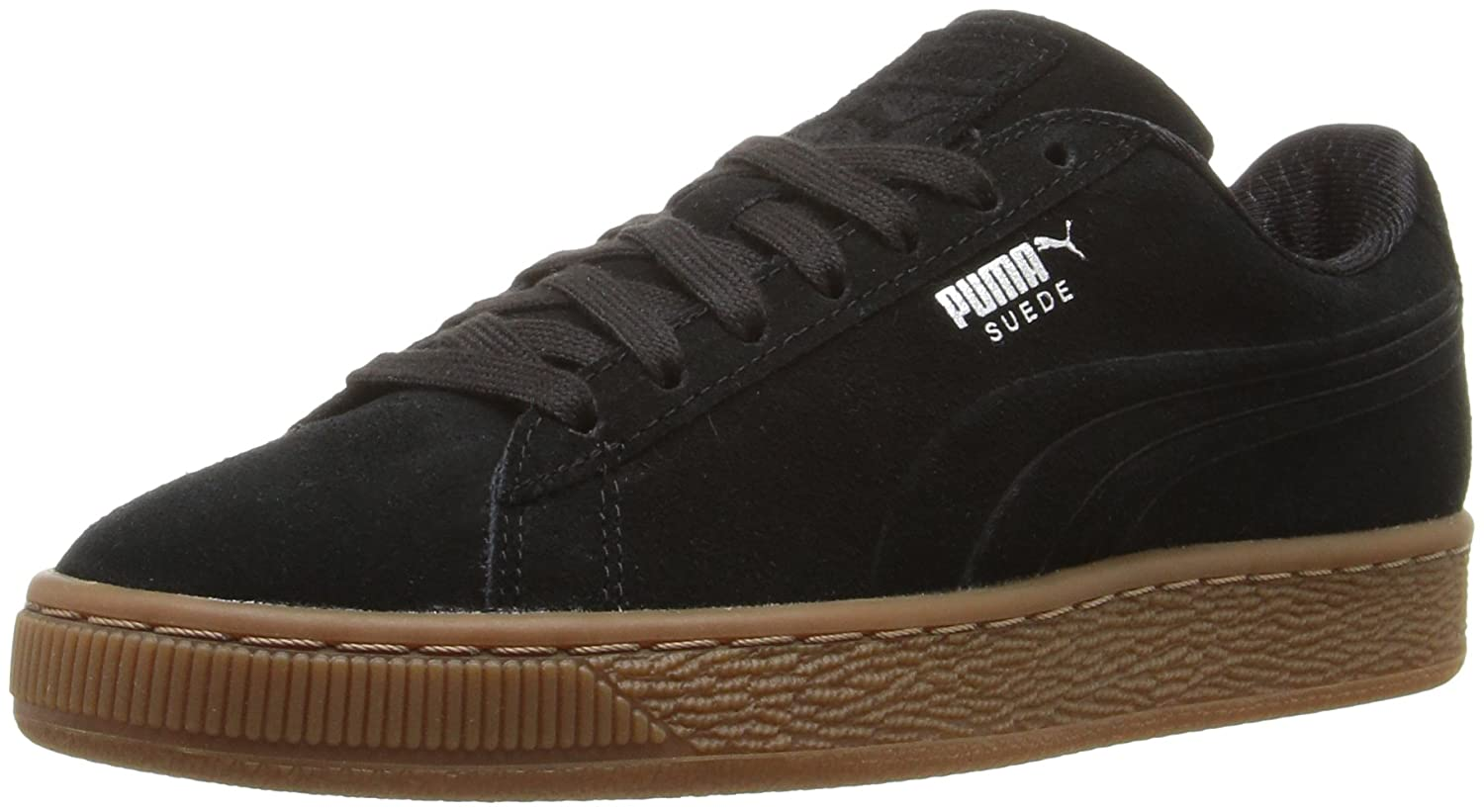Puma Up Suede Classic Debossed Mens schwarz Suede Lace Up Puma Turnschuhe schuhe 11 90e5a1