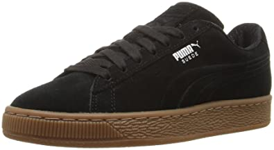 PUMA Men's Suede Classic Debossed q4 Fashion Sneaker, Black-Glacier Gray,  ...