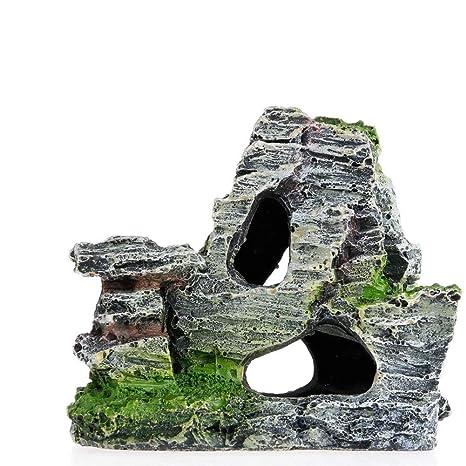 Doitsa Acuario Faux Roca Cueva decoración, Fondo Marino simulé Paisaje Size 10 * 5.5 *