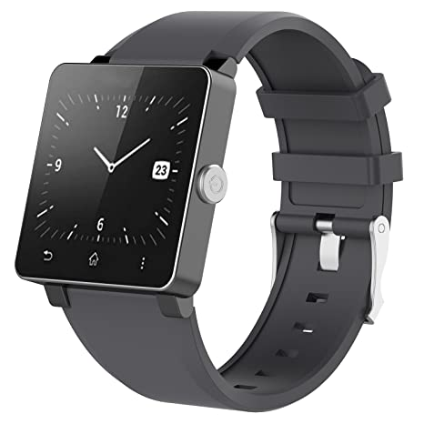 Zeehar - Correa de Silicona Suave de Repuesto para Reloj Inteligente Sony Smartwatch 2 SW2, Gris, 5.5