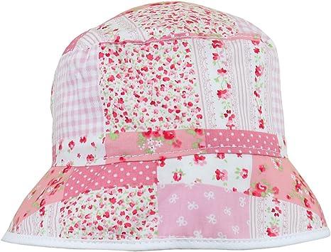 BabyPrem Baby Girls Sun Hat Pink Summer Hat with Chin Strap Age 0-3 /& 3-6 months