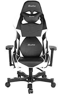 Clutch Chairz Crank Series Charlie Worlds Best Ergonomic Gaming Chair (Black/White)