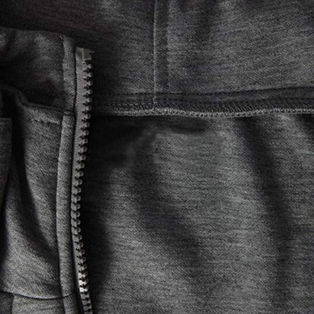 Clearance Teresamoon Fashion Mens Autumn Winter Long Sleeve Sport Zipper Hoodie Pullover Blouse Tops
