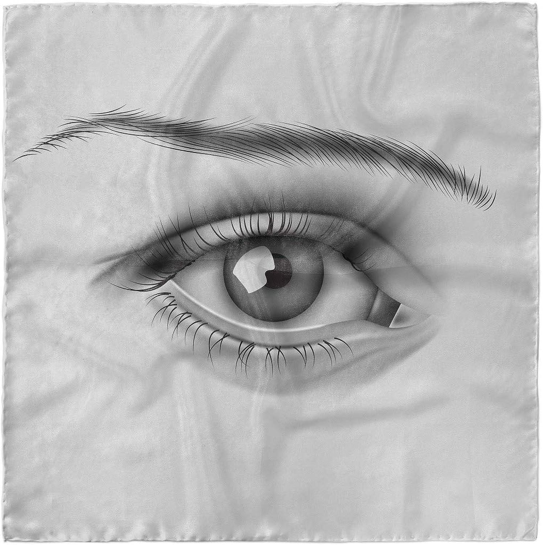 Hair Wrap Lunarable Retro Head Scarf Monochrome Eye of a Woman
