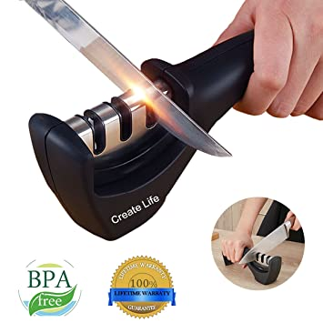 Amazoncom Create Life Knife Sharpener Professional Kitchen Knife