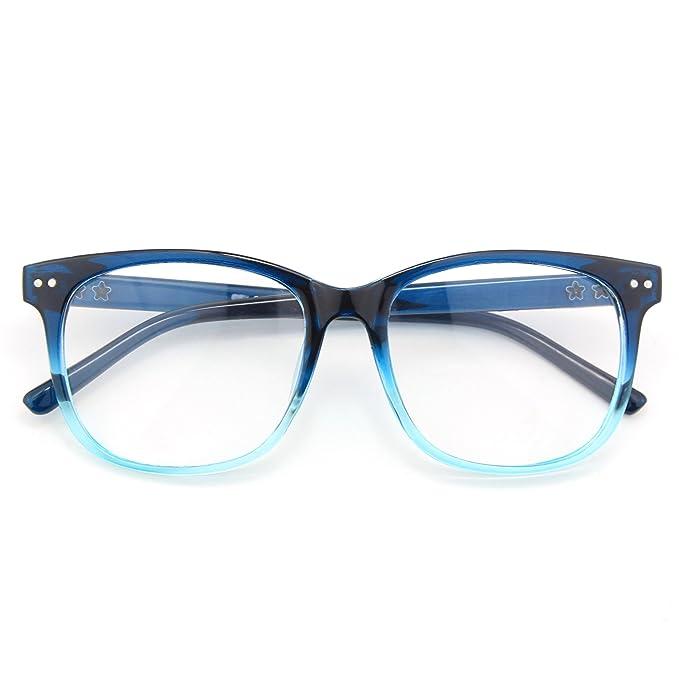 874b01089b CGID CN81 Retro Anteojos Lente Claro Gafas Para Mujer y Hombre, Azul:  Amazon.es: Ropa y accesorios