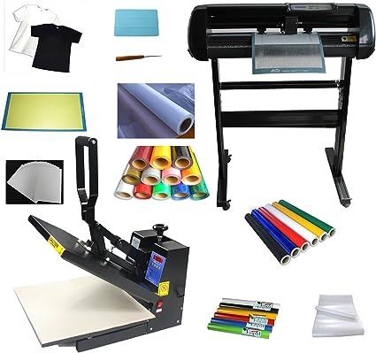 24 corte Plotter Vinilo diseño de muchas piezas de vinilo de prensa de calor calor Tansfer: Amazon.es: Oficina y papelería