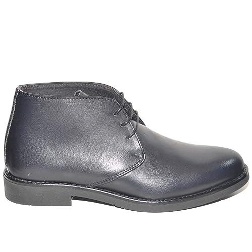 7d5181cd3f Polacchino Uomo Invernale in Vera Pelle Vitello Nero Comfort Basic Stile  Italiano Scarpe da Professionista Handmade