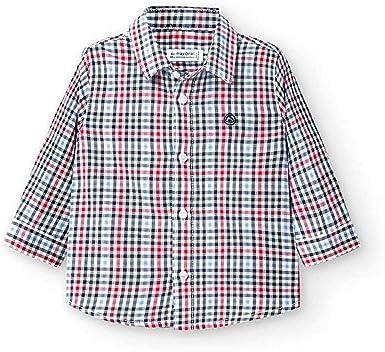 Mayoral Camisa m/l Cuadros Bebe Niño Rojo: Amazon.es: Ropa y ...
