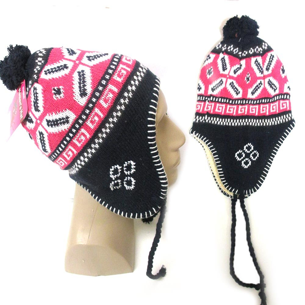 0405ba33a6c75 Amazon.com  1 Unisex Peruvian Winter Ear Flap Muff Ski Hat Kids Teens Skully  Beanie Cap Snow  Office Products