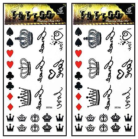 Tattoos 2 hojas de tatuajes falsos temporales con diseño de ...