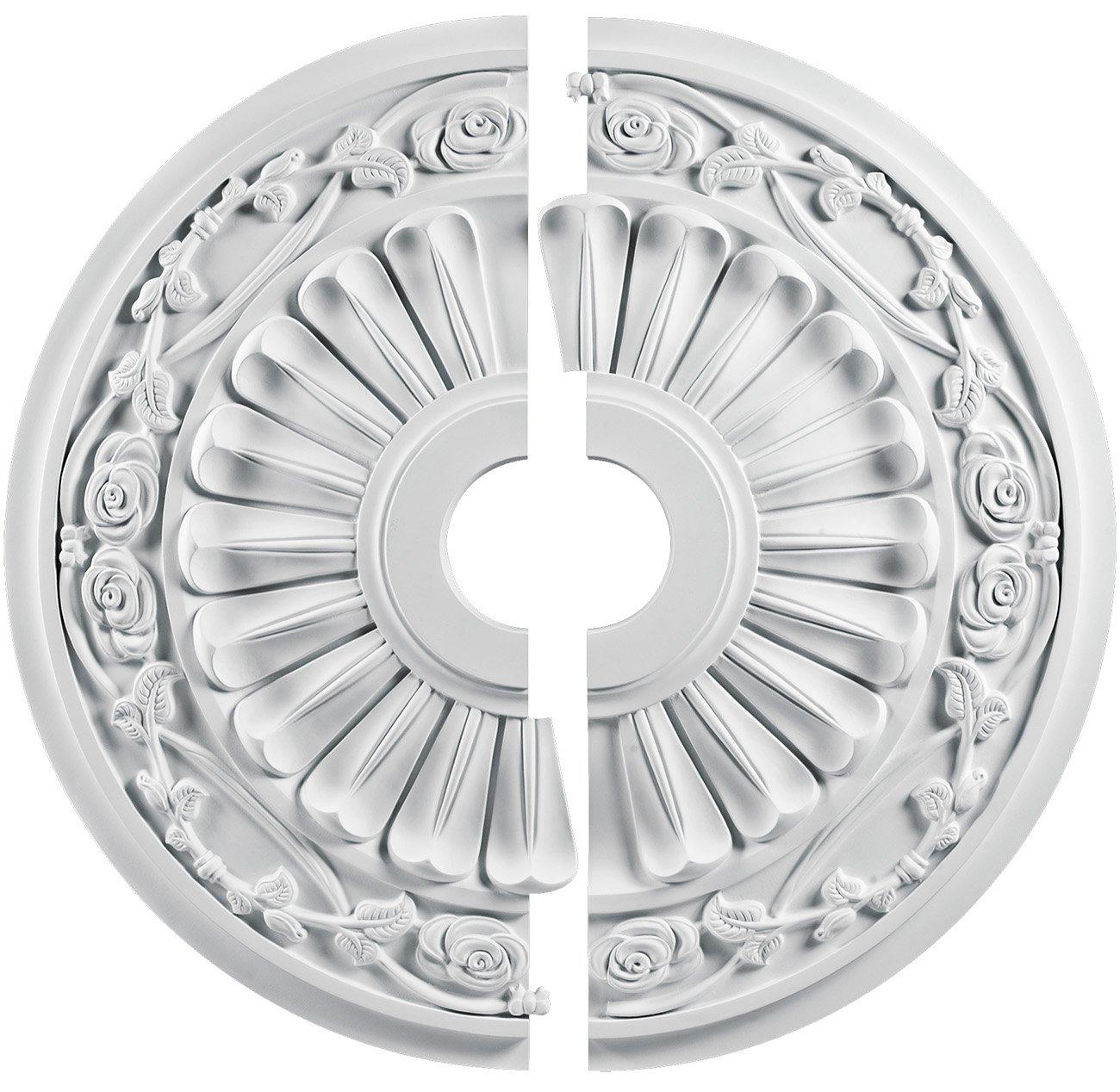 jefferson sku white in polyurethane store fypon split p moulding piece ceiling cornice so x medallion