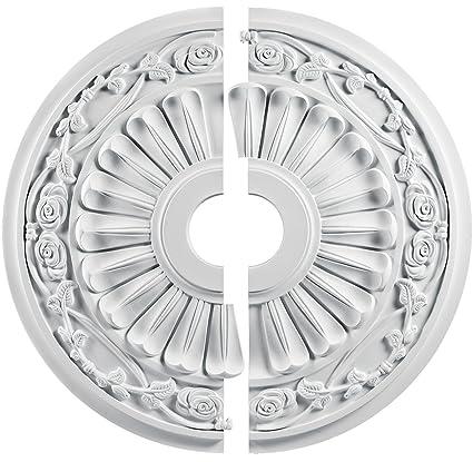 Invitinghome M9024 California 2 Piece Ceiling Medallion Primed White