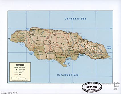 Amazon.com: Map Poster - Jamaica. 24 X 19: Posters & Prints