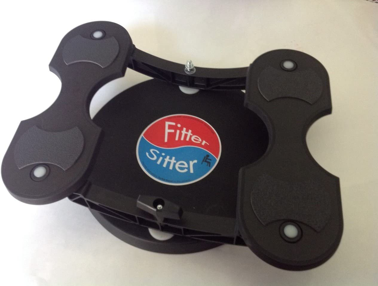 The Fitter Sitter: Stop Being Sedentary. Under Desk Exerciser for Blood Circulation, Seated Physical Therapy Leg Exerciser. Great for Seniors, Adult Office Workers, ADHD Fidget. Ergonomic Foot Rest.