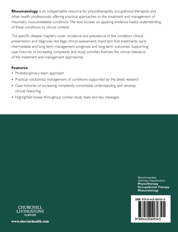 Rheumatology: Evidence-Based Practice for Physiotherapists and ...
