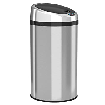 ITouchless Automatic Touchless Sensor Kitchen Trash Can   Stainless Steel U2013  8 Gallon / 30.3 Liter