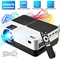 Wsky H2 Full HD 1080p LCD Home Theater Projector with Remote Control (2019 Upgraded)