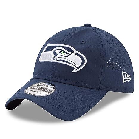 813aef41f14 Amazon.com  New Era Men s Seattle Seahawks Perforated Strapback Cap ...