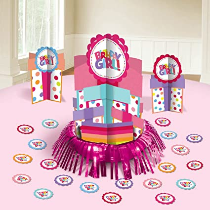 Happy Birthday Girl Table Decorating Kit Party Decoration 23 Pack Multi