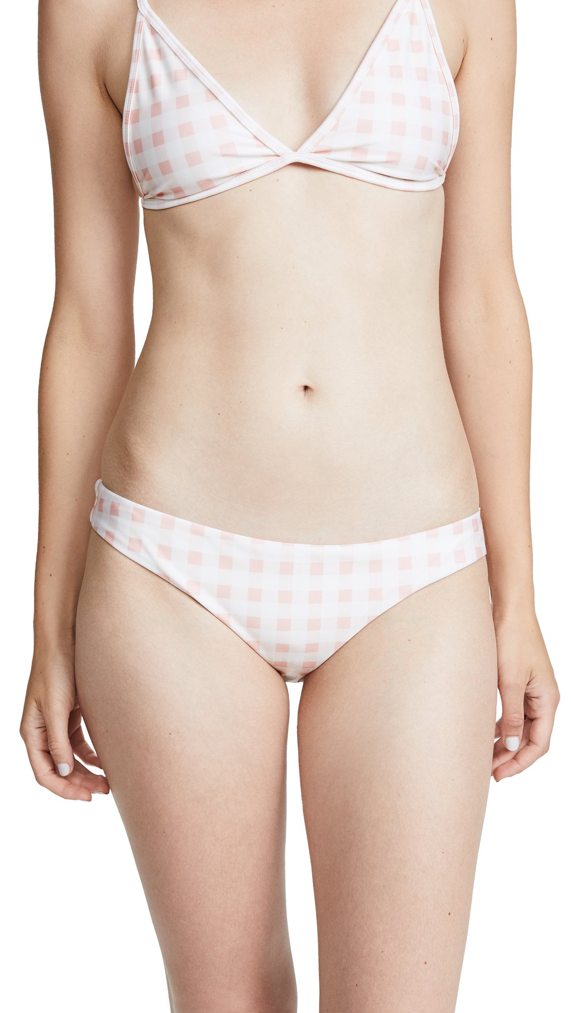 For Love & Lemons Women's Bonnie Swim Bottoms, Soft Pink, Medium