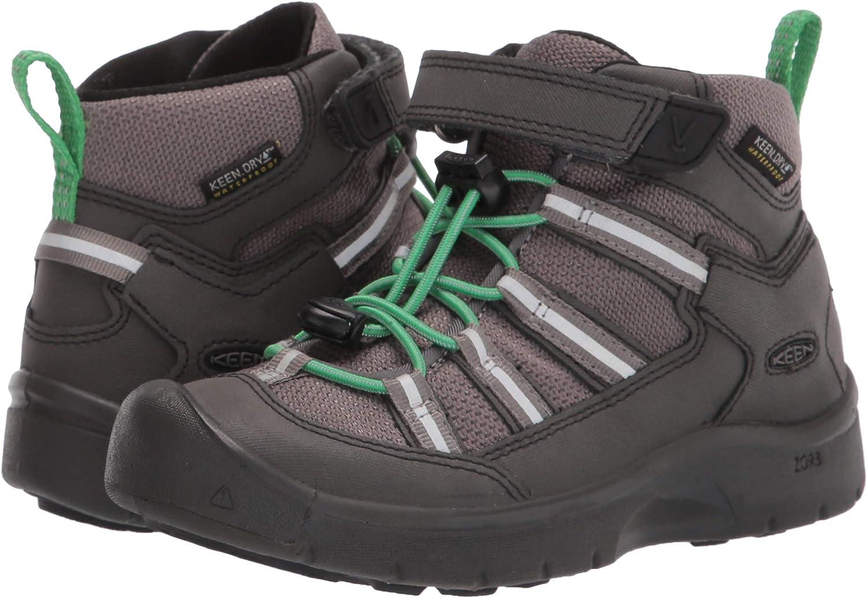 6 US Unisex Big Kid Black//Irish Green KEEN Hikeport 2 Sport Mid Height Waterproof Hiking Boot