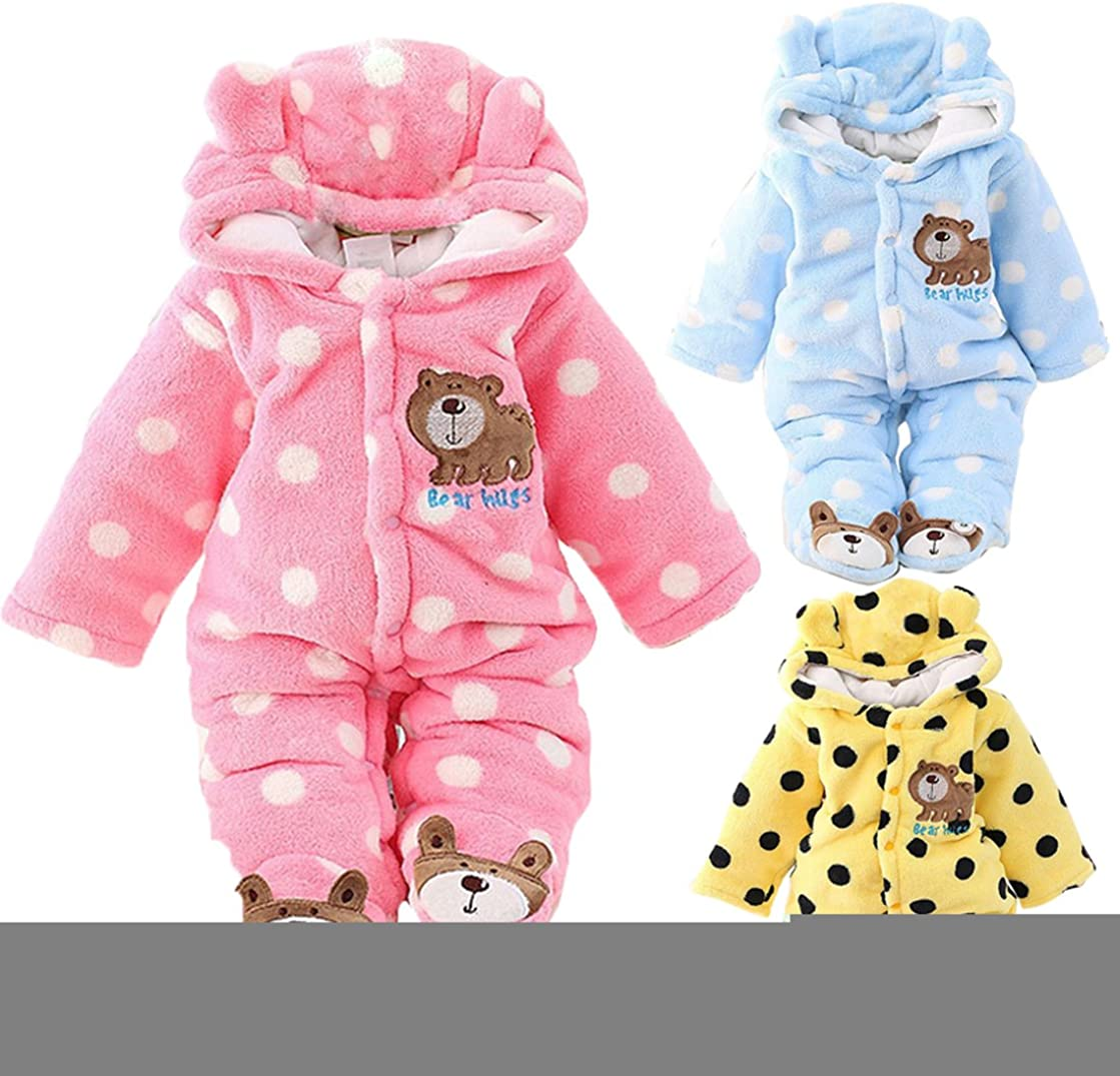 Haokaini Newborn Baby Animal Printed Hooded Romper Jumpsuit Bodysuit Outfits for Infant