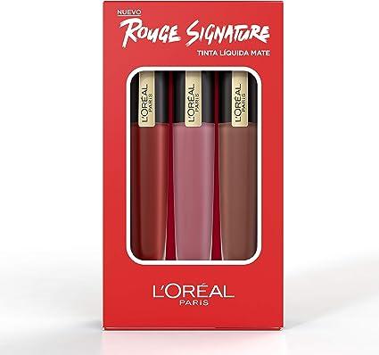 LOreal Paris Make-up Designer Kit de tres Pintalabios Mate ...