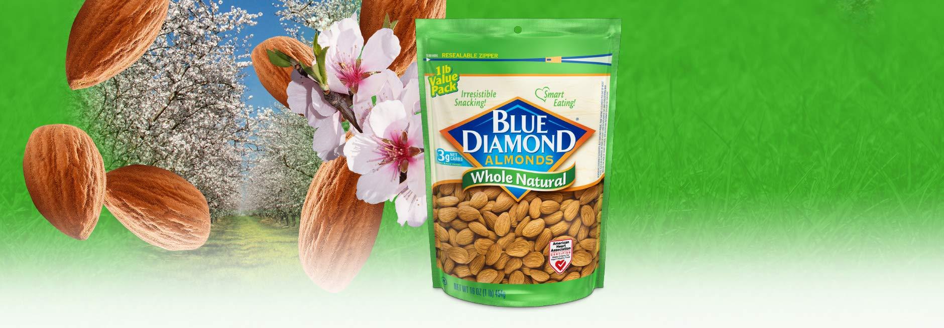 Blue Diamond Almonds, Raw Whole Natural, 16 Ounce by Blue Diamond Almonds (Image #4)