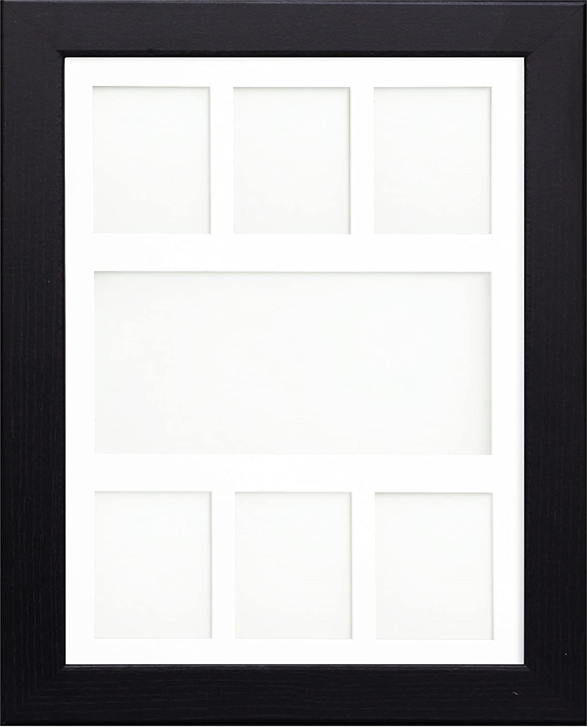 Multi Aperture Collage Picture Photo Frames Black Frame With White ...
