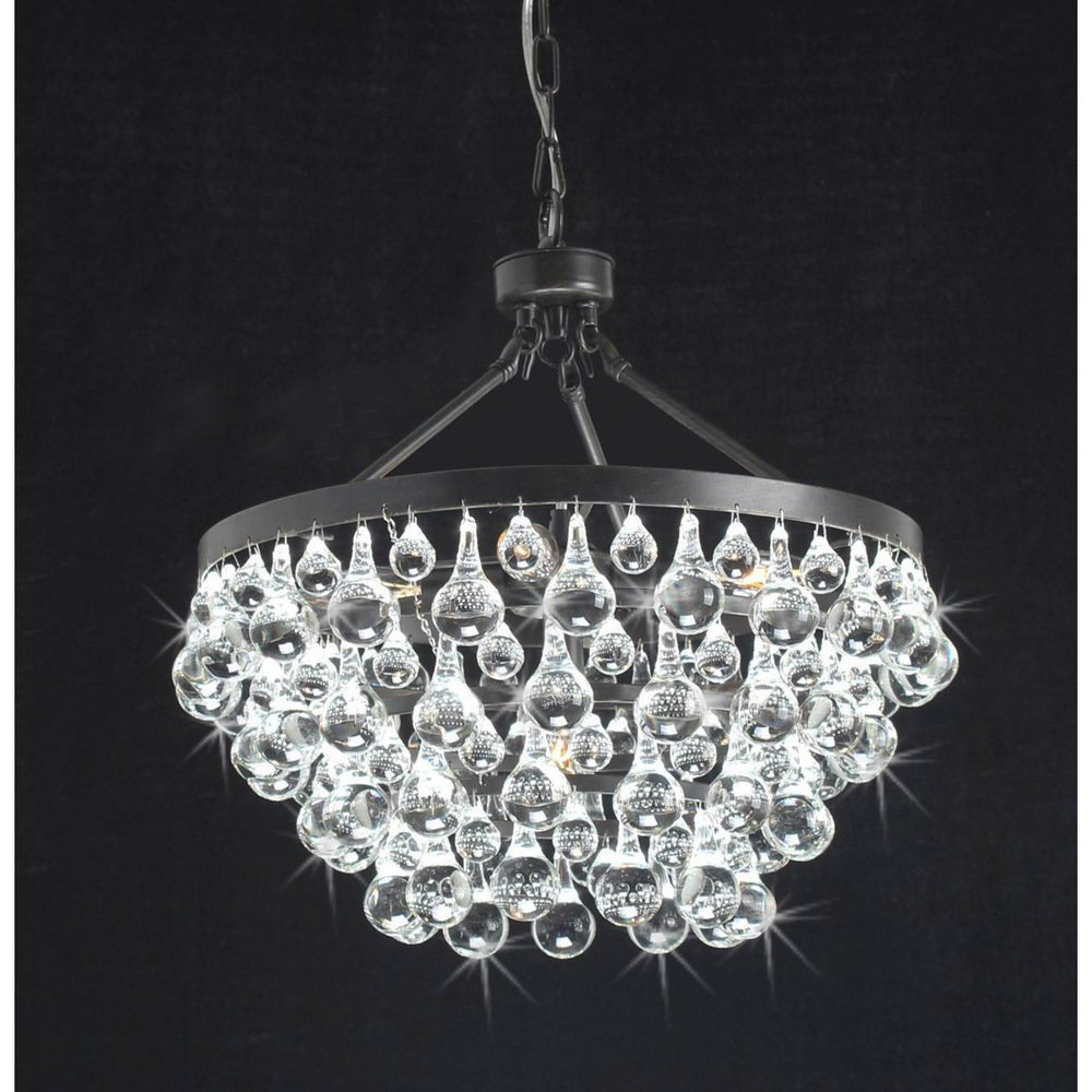 Antique black 5 light crystal drop chandelier amazon aloadofball Images