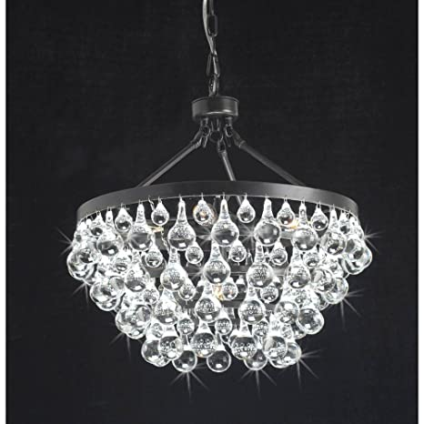 Antique Black Light Crystal Drop Chandelier Amazoncom - Chandelier drop crystals