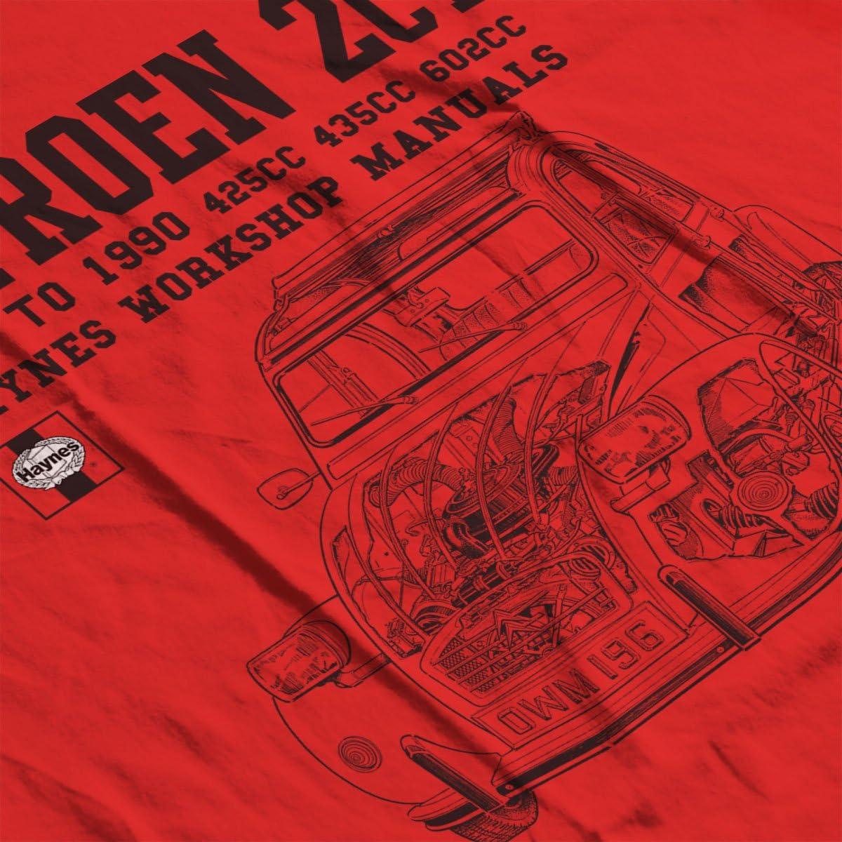 POD66 Haynes Owners Workshop Manual Citroen 2CV Black Mens T-Shirt