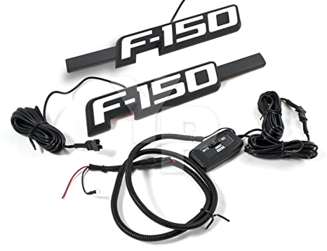 Amazon Com 2009 2014 F 150 Light Up Black Fender Emblems