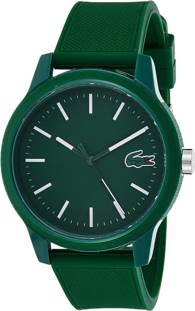 Lacoste Reloj Analógico para Hombre de Cuarzo con Correa en Silicona 2010985: Amazon.es: Relojes