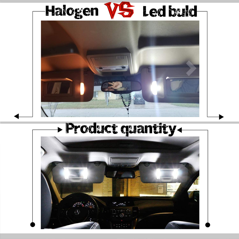 Xenon White iBrightstar Newest 9-30V Extremely Bright 29mm 6614F 6612F for Car Sun Interior Vanity Mirror Sun Visor Lights