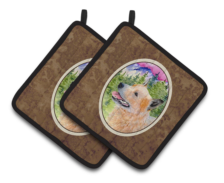 Carolines Treasures SS8335PTHD Australian Cattle Dog Pot Holders 1 Pair 7.5 x 7.5 Multicolor