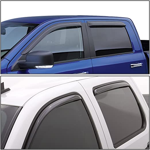 Fits Dodge Ram 1500 2DR 2009-2018 AVS Ventvisor Window Visors Rain Guards