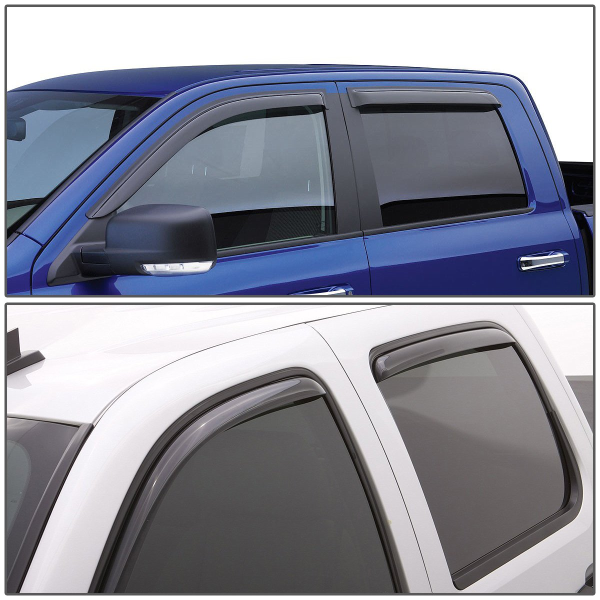 For Honda Pilot 1st Gen 4DR 4pcs Tape-On Window Visor Deflector Rain Guard