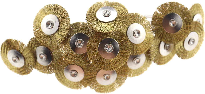 5 mm 25 mm 10 mm 45 cepillos de alambre de acero inoxidable para rueda de pulido compatible con herramientas de molinillo giratorio Dremel