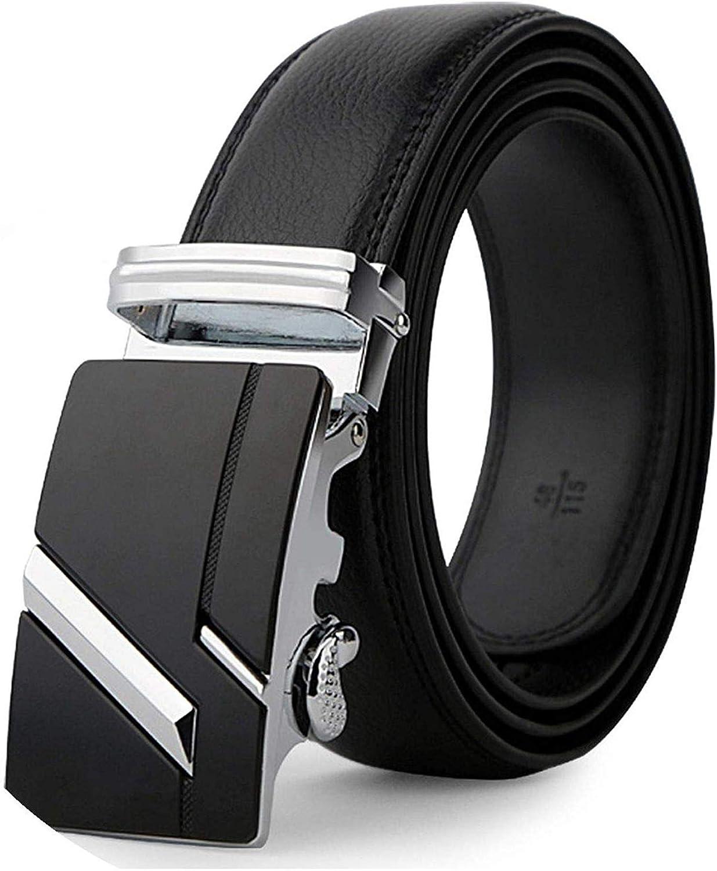 New Arrival Men's Automatic Belt Black Male Buckle Leather Belts Fashionable Business Waist Strap Men