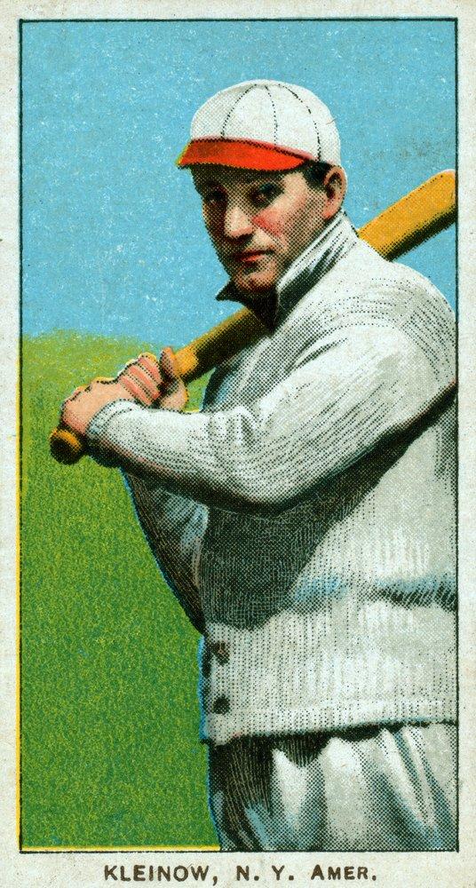 New York Highlanders – レッドKleinow – 野球カード( 16 x 24 Gicleeギャラリー、壁用旅行ポスター)   B017ZESA7I