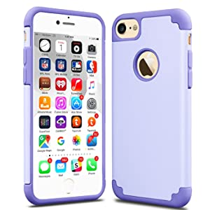 iPhone 7 Case, CaseHQ Slim Extreme Impact Protection Heavy Duty Dual layer PC Rugged Bumper Drop Protection Scratch Resistant Case for Apple iPhone 7 2016 Release purple