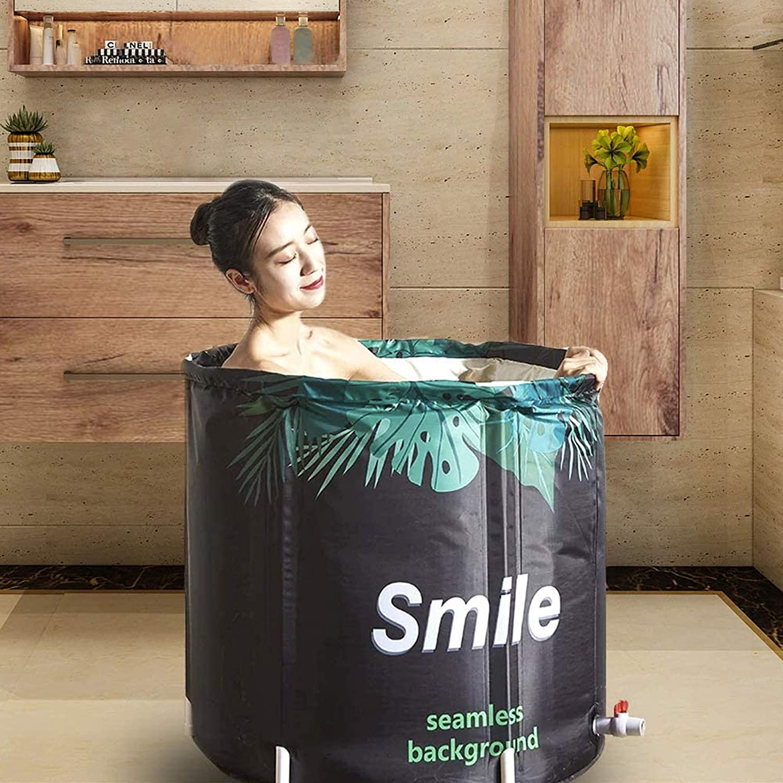 Foldable Bathtub Portable Soaking Bath Tub,Eco-Friendly Bathing Tub for Shower Stall,Thickening with Thermal Foam to Keep Temperature