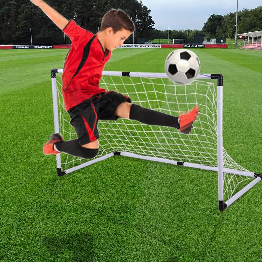 Fútbol Portería De Fútbol Portátil Plegable Para Jóvenes Portería De Fútbol Para Niños Con Balón Y Bomba Juego De Mini Red Y Pelota Para Patio Trasero Interior Deportes Y Aire Libre Leitingcuisine Com