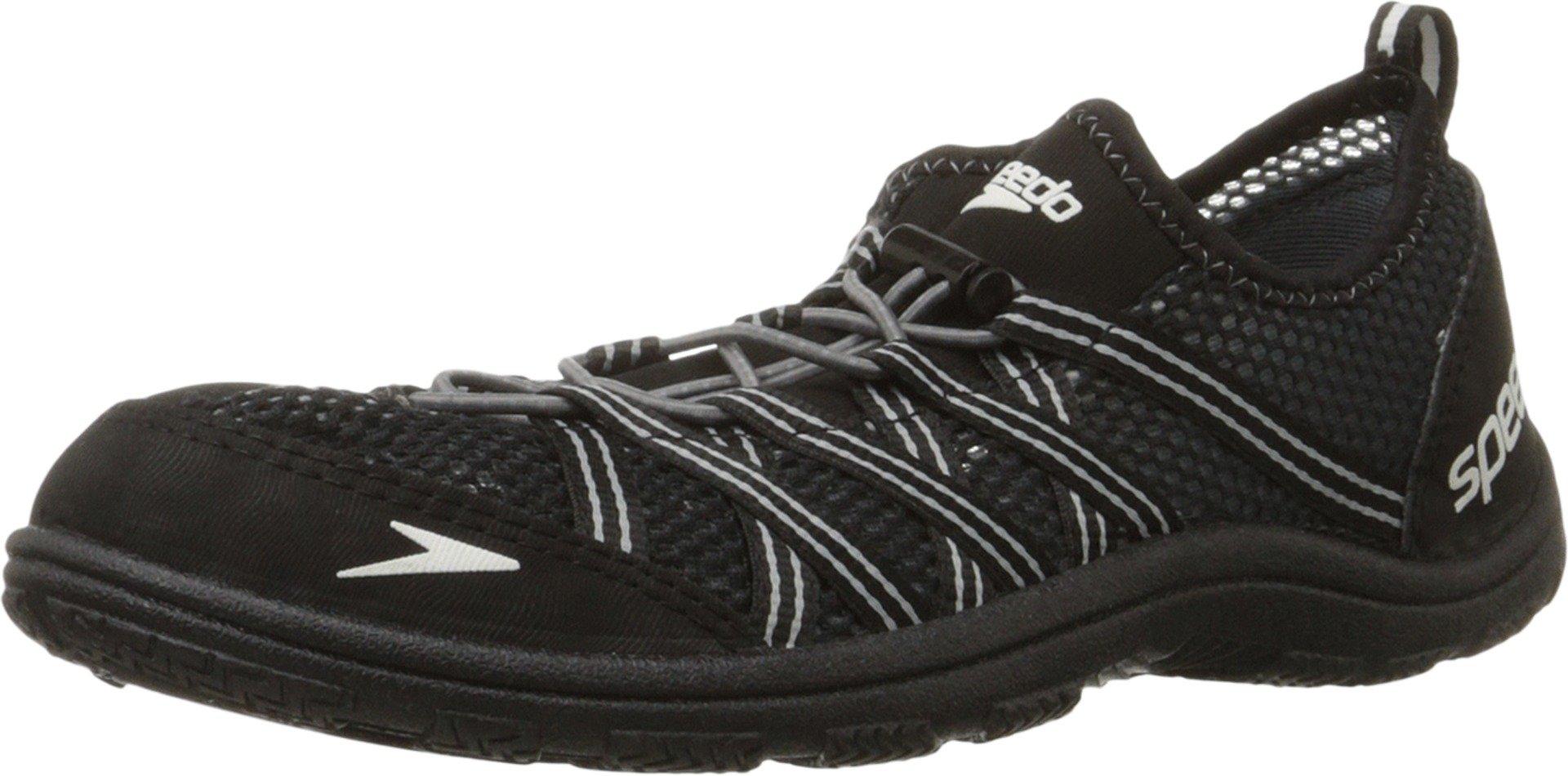 Speedo Men's Seaside Lace 4.0 Water Shoe, Black, 10 M US